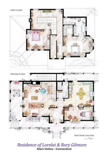 TV floor plan - Gilmore Girls