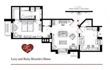 TV floor plan - I Love Lucy