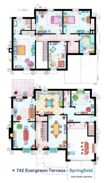 If you really really want to live in the friends for Simpsons house floor plan