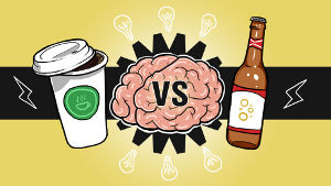 Coffee versus beer graphic